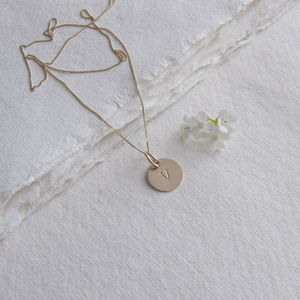 Gold Initial Necklace - necklaces & pendants