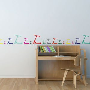 Scooter Wall Stickers - wall stickers