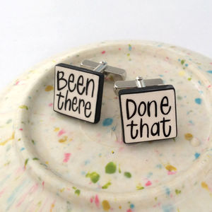 'Been There, Done That' Cufflinks - cufflinks