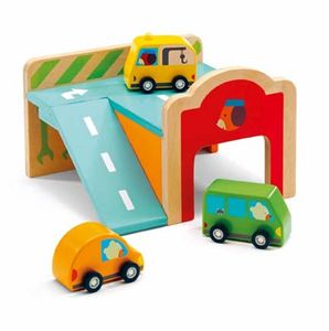 Djeco Wooden Mini Garage - pretend play & dressing up