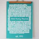 Personalised Family Memories Typographic Print