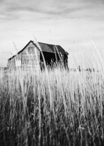 Weathered House, Black And White Signed Print - contemporary art