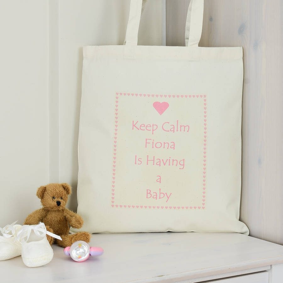 Personalised having a baby shower gift bag by andrea fays personalised having a baby shower gift bag negle Choice Image