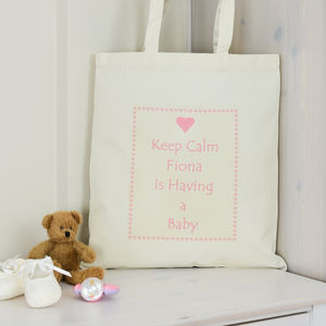 Personalised 'Having A Baby' Shower Gift Bag - pregnancy announcements