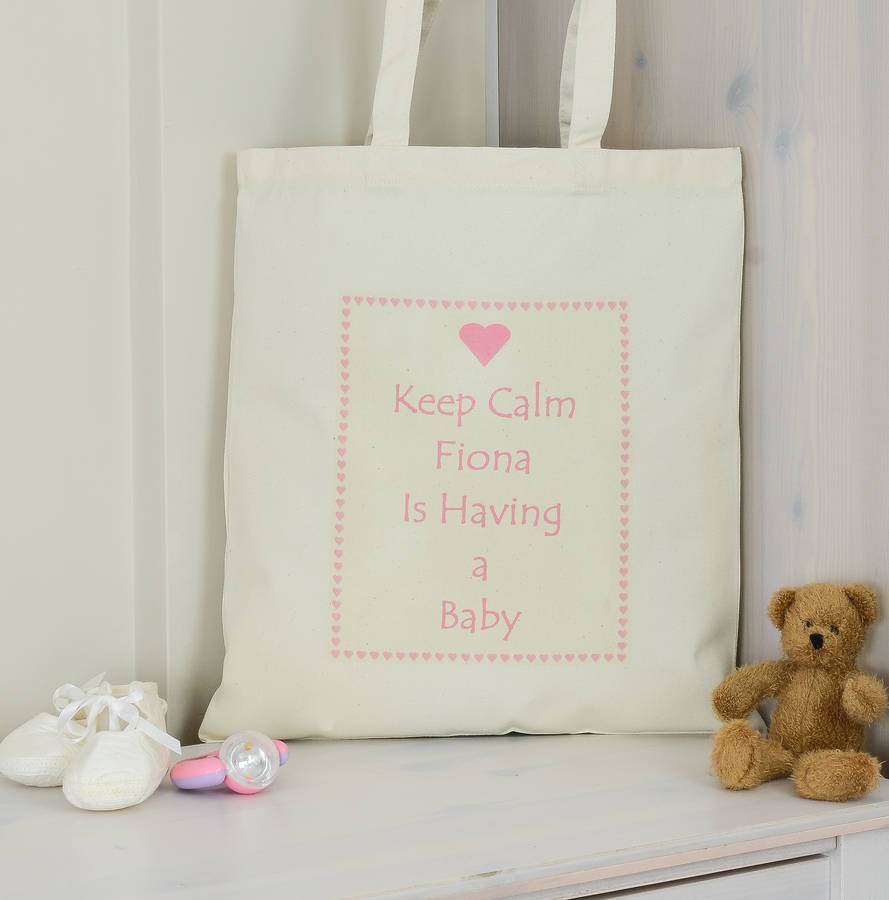 personalised 'having a baby' shower gift bag by andrea fays, Baby shower
