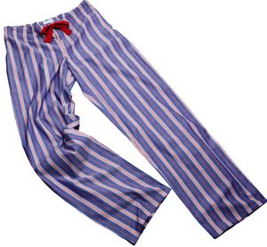 Blue And Red Stripe Pyjama Bottoms