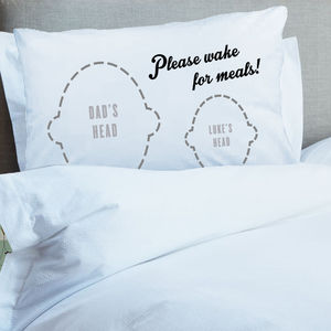 Wake For Meals New Mum Or New Dad Pillowcase