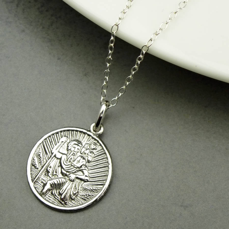 Personalised St Christopher Necklace By Hersey