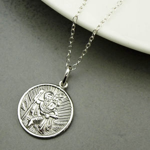 Personalised St Christopher Necklace - children's jewellery