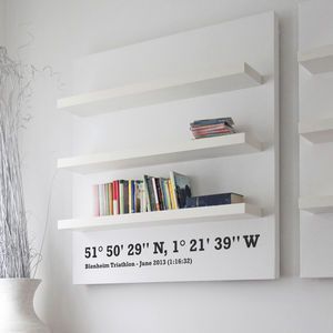 Personalised Coordinates Wall Sticker - living room