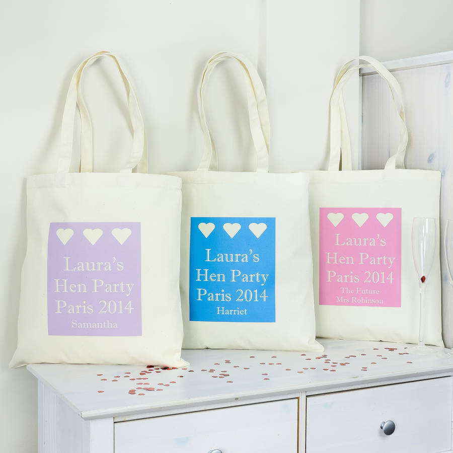 personalised hen party bag by andrea fays | notonthehighstreet.com