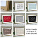 wooden frames with off-white mounts
