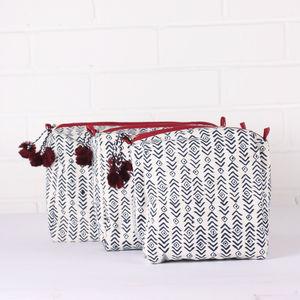 Aztec Wash Bags,Indigo - bags & purses