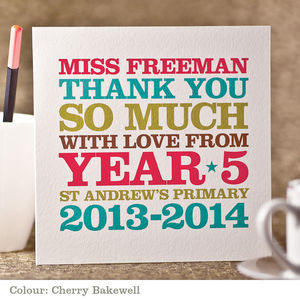 Thank You Teacher Card - gifts for teachers