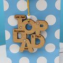 Personalised 'Top Dad' Gift Tag Keepsake
