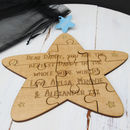 Personalised Wooden Star Jigsaw Keepsake