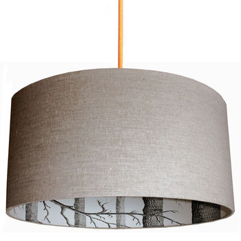 Cole and Sons The Woods Silhouette Lampshades In Oatmeal