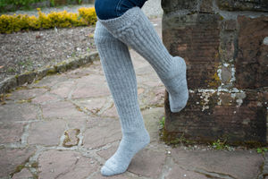 Long Everyday Ladies Alpaca Knee Socks - lounge & activewear