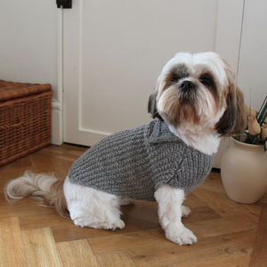 Textured Rib Dog Sweater