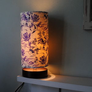 Willow Japanese Design Cylinder Table Lamp - lighting