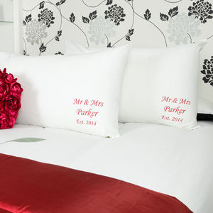 Personalised 'Anniversary' Pillowcases - bed, bath & table linen