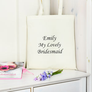 Personalised 'My Lovely' Bridesmaid Bag