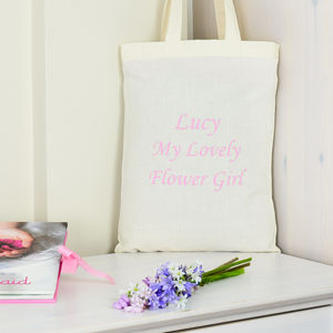 Pink Personalised 'Flower Girl' Bag