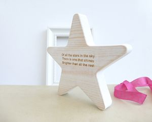 Wooden Star Keepsake - decorative accessories