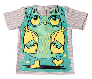 Child's Wipe Clean Striped Owl Top