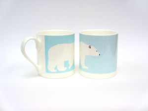 Polar Bear Bone China Mug - mugs
