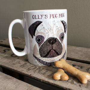 Personalised Pug Mug - mugs
