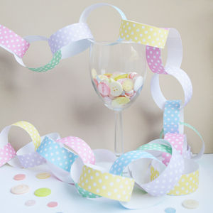 Pastel Polka Dot Paper Chain Kit - decorative accessories