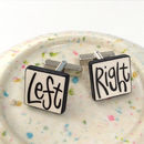 'Left, Right' Cufflinks