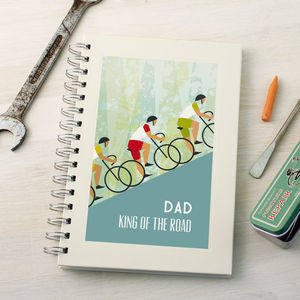 Personalised Cycling Notebook - gifts for cyclists
