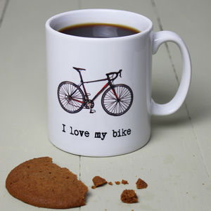 Personalised Bike Illustration Mug - tableware