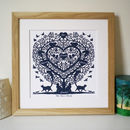 Personalised Cat Lovers Family Tree Print