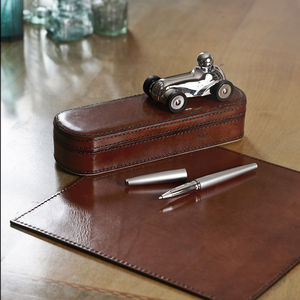 Leather Executive Desk Set Small - stationery