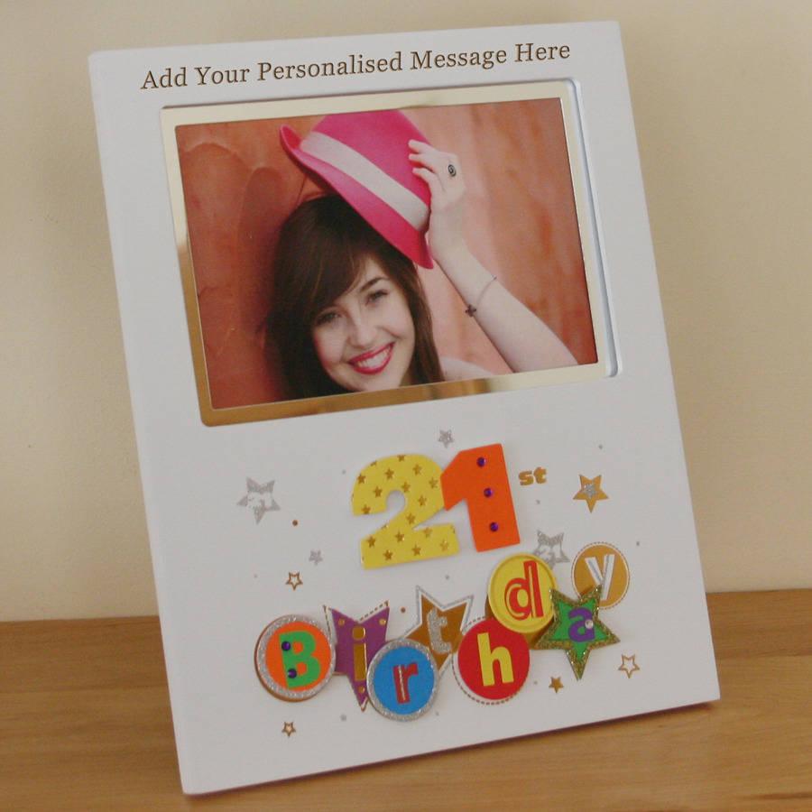 21st Birthday Photo Frame By Giftsonline4u