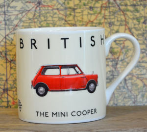 Best Of British Mini Cooper Mug - mugs