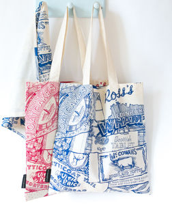 'Sweet Tooth' Scottish Confectionary Print Tote Bag