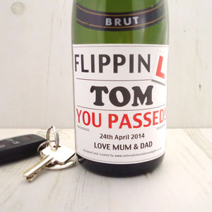 Driving Test Champagne Label