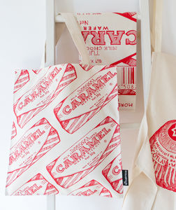 Tunnock's Caramel Wafer Flat Tote Bag - bags & purses