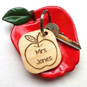 Thank You Teacher Personalised Key Ring - keyrings