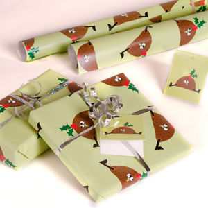 Christmas Pudding Gift Wrap Set