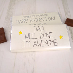 'I'm Awesome' Father's Day Chocolate Bar - gifts to eat & drink