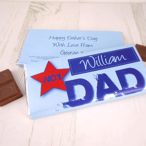 No1 Dad Chocolate Bar