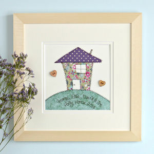 Personalised New Home Embroidered Framed Artwork