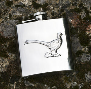 Pheasant Hip Flask - men's accessories