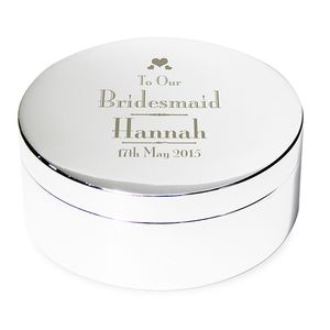 Bridal Party Personalised Trinket Box - jewellery storage & trinket boxes