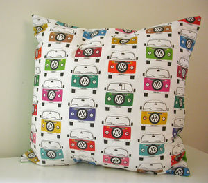 Campervan Holiday Cushion - patterned cushions